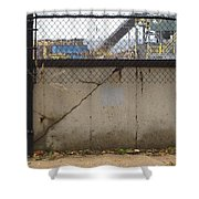 Concrete And Rusty Fence Shower Curtain