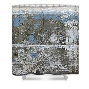 Concrete Blue 1 Shower Curtain