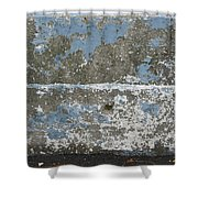 Concrete Blue 2 Shower Curtain