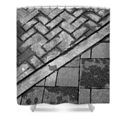 Concrete Tile - Abstract Shower Curtain