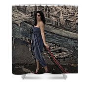 Concrete Velvet 1 Shower Curtain by Donna Blackhall
