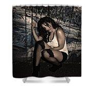 Concrete Velvet 22 Shower Curtain