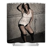 Concrete Velvet 24 Shower Curtain