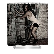 Concrete Velvet 33 Shower Curtain