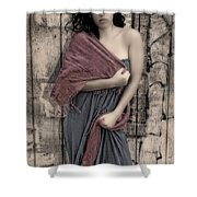 Concrete Velvet 5 Shower Curtain