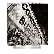 Condemned Building Shower Curtain