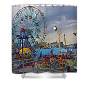 Coney Island Amusements Shower Curtain