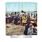 Coney Island: Beach, C1902 Shower Curtain