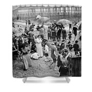 Coney Island: Beach Shower Curtain