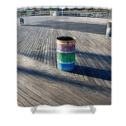 Coney Island Boardwalk Shower Curtain