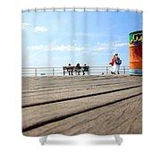Coney Island Boardwalk Shower Curtain