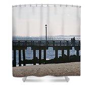 Coney Island Coast Shower Curtain