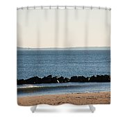 Coney Island Coastline Shower Curtain