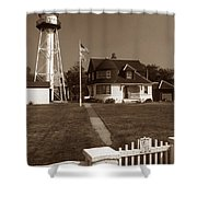 Coney Island Lighthouse Shower Curtain by Skip Willits