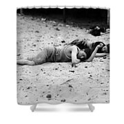 Coney Island: Sleeping Shower Curtain