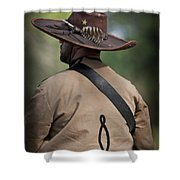 Confederate Cavalry Soldier Shower Curtain