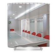 Conference Room Shower Curtain by Setsiri Silapasuwanchai