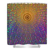 Confetti Shower Shower Curtain