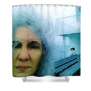 Confronting The Ferryman Shower Curtain
