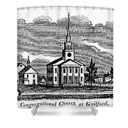 Connecticut: Church, 1836 Shower Curtain