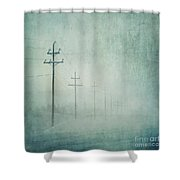 Connenction Shower Curtain by Priska Wettstein