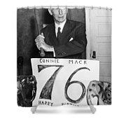 Connie Mack (1862-1956) Shower Curtain