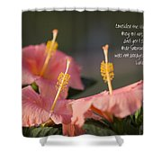 Consider The Lilies How They Grow Shower Curtain