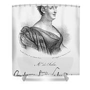 Constance De Salm Shower Curtain
