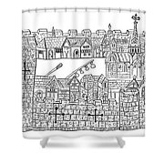 Constantinople, Procession At City Shower Curtain