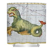 Constellation Of Cetus The Whale Shower Curtain