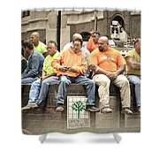 Construction Workers One World Trade Center Shower Curtain