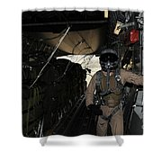 Container Delivery System Bundles Exit Shower Curtain by Stocktrek Images