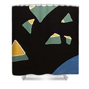 Containers In Space Shower Curtain