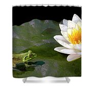 Contemplating A Lily Shower Curtain