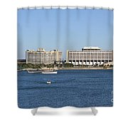 Contemporary Hotel Shower Curtain