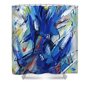 Contemporary Painting Six Shower Curtain