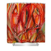 Contemporary Painting Three Shower Curtain