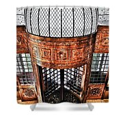 Continental Hotel Zara Main Entrance - Budapest Shower Curtain