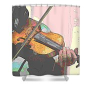 Contorno Fiddle Shower Curtain