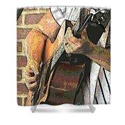 Contorno Guitarist 2 Shower Curtain