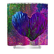 Contours Of The Heart Shower Curtain