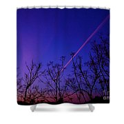 Contrail Contrast Shower Curtain