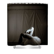 Contrasting Geometry Shower Curtain