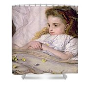 Convalescent Shower Curtain by Frank Holl