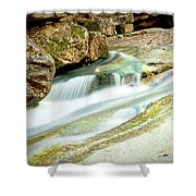 Converging Shower Curtain