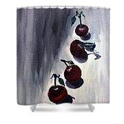 Conversation With Cherries  Shower Curtain