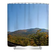 Conway Scenic Railroad - Short Shower Curtain by Geoffrey Bolte