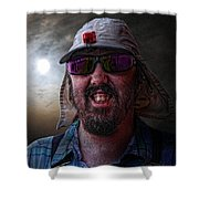 Cool Hat Colour Shower Curtain