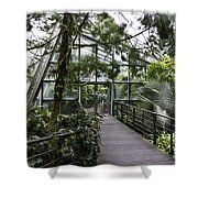 Cool House Inside The National Orchid Garden In Singapore Shower Curtain