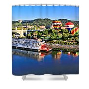 Coolidge Park During River Rocks Shower Curtain